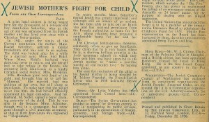 Article by the Jewish Chronicle about the trial concerning Jean-Louis Schreiber, a Jewish child cared for by Christian Foster parents