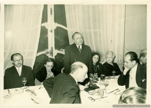 photo of Menachem Begin at dinner at Isidore Franckel's apartment